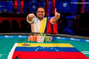 Foto Joseph Di Rojas se hace con el primer brazalete para Venezuela en las WSOP 2017