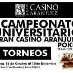 Este jueves Gran Final del I Campeonato de Poker Universitario Gran Casino de Aranjuez